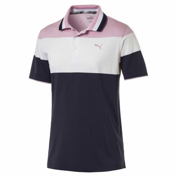 Puma Nineties Polo Herren blau/pink