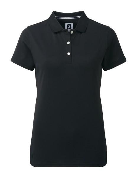 Footjoy Stretch Pique Solid Polo Damen schwarz
