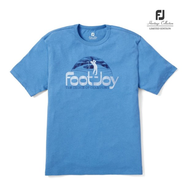 Footjoy Heritage T-Shirt Herren oceanblue