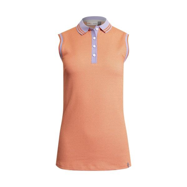 Kjus Ella Structure S/L Polo Damen orange