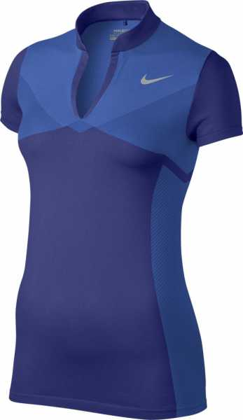 Nike Women's Zonal Cooling Dri-FIT Knit Golf Polo blau