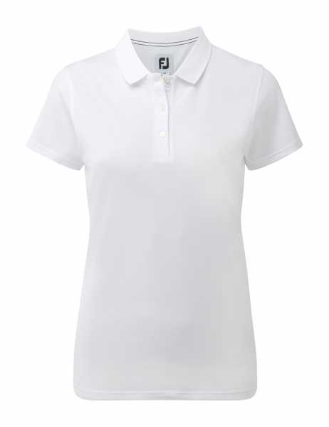 Footjoy Stretch Pique Solid Polo Damen weiß