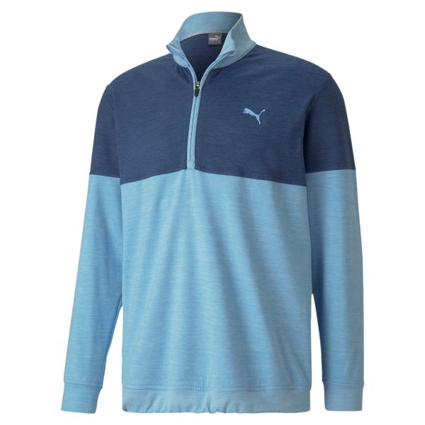 Puma Warm Up 1/4 Zip Pullover Herren blau/hellblau