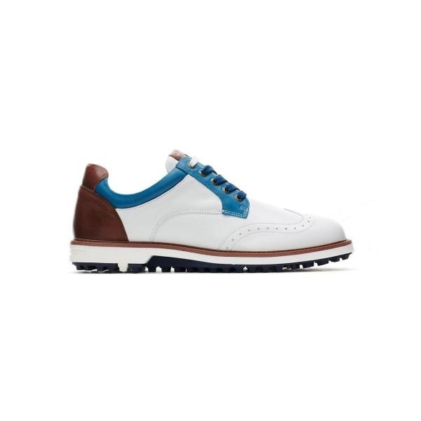 Duca del Cosma Eldorado Golfschuh Herren weiß/blau/braun