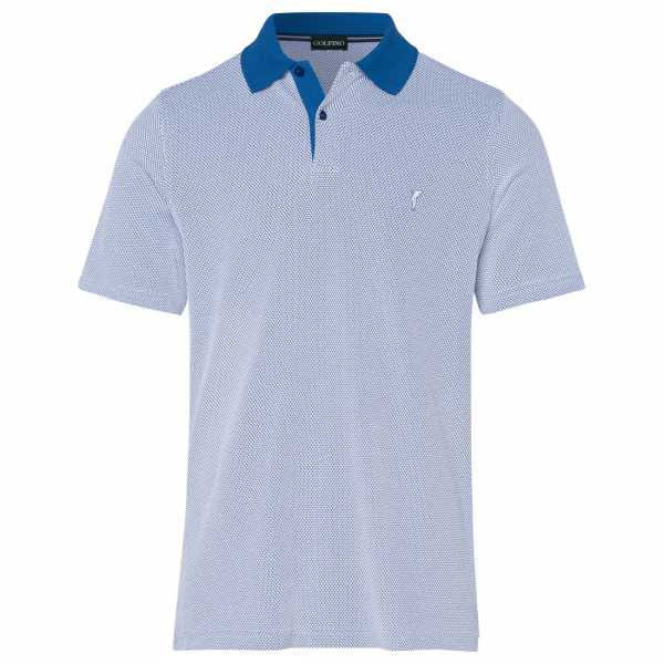 Golfino Babble Jacquard Polo Herren blau/weiß