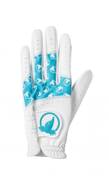 Honma Damen Paar Handschuhe weiß/türkis