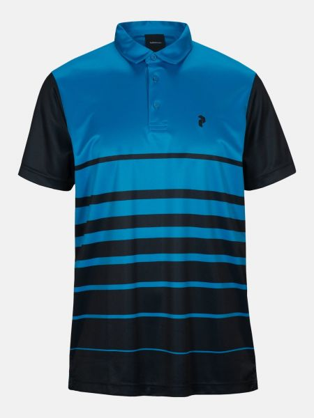 Peak Performance BRANDON Print Polo Herren blau/schwarz