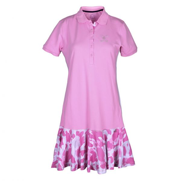 Girls Golf Camo Pink Kleid Damen rose
