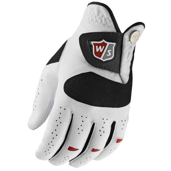 Wilson Staff Dual Performance Herrenhandschuh weiß