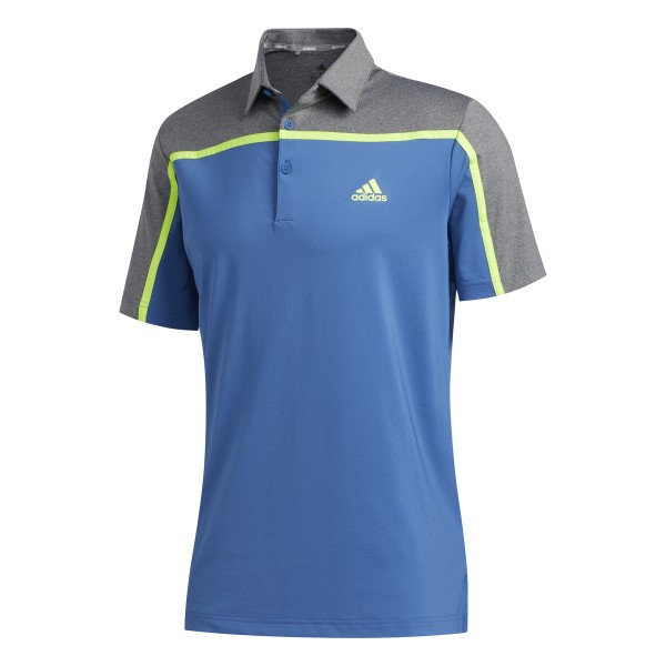 adidas Ultimate 3Stripe Polo Herren blau/grau