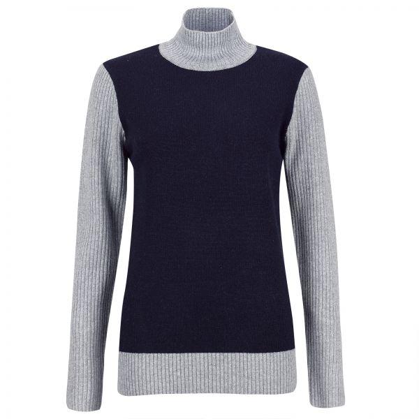 Golfino Silver Touch Rollneck Pullover Damen grau/blau