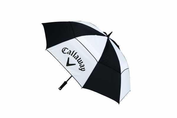 "Callaway Clean Logo Regenschirm 60"" schwarz/weiß"