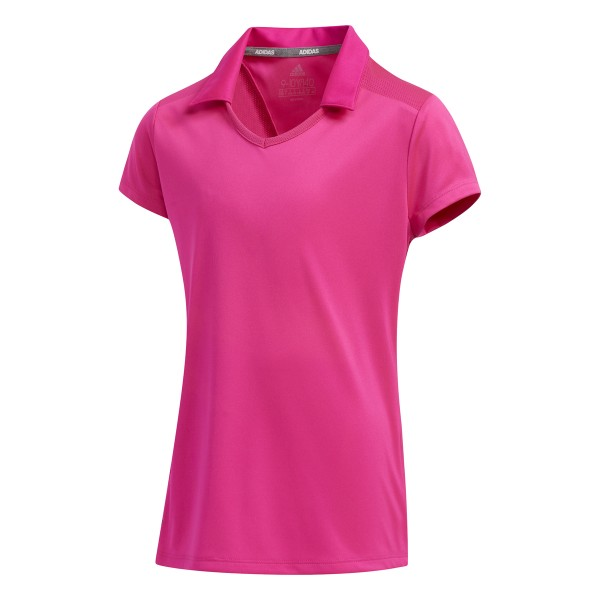 adidas Solid Fashion Short Sleeve Polo Mädchen pink