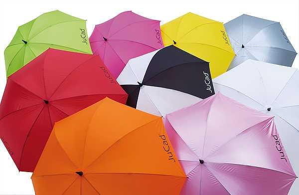 JuCad Regenschirm mit JuCad-Logo