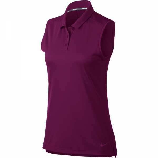 Nike Dry Golf Polo sleeveless Damen dunkelrot