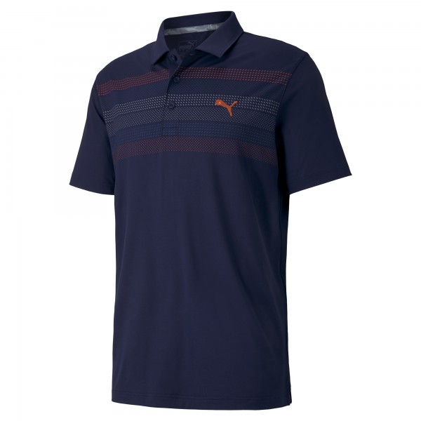 Puma Road Map Polo Herren navy