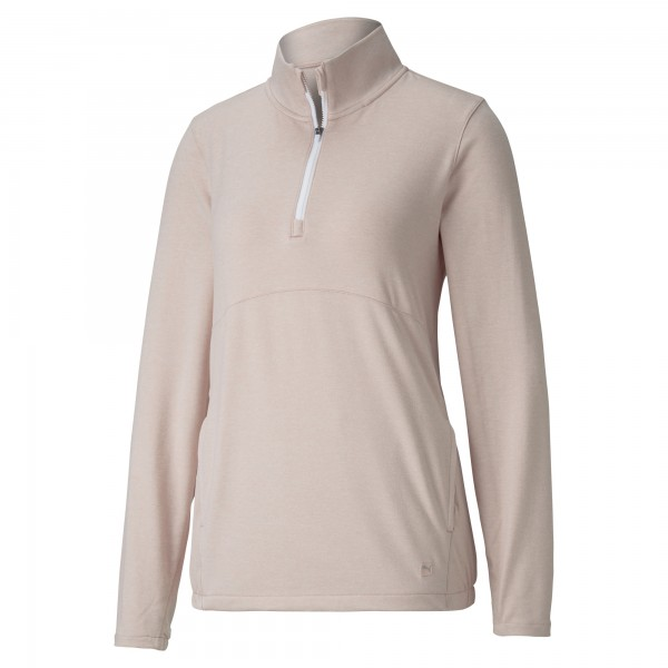 Puma 1/4 Zip Crossing Pullover Damen peachskinheather