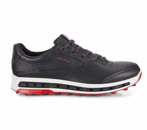 Ecco Golf Cool Pro Schuh Herren schwarz/rot