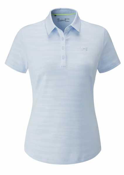 Under Armour Zinger Short Sleeve Novelty Polo Damen hellblau