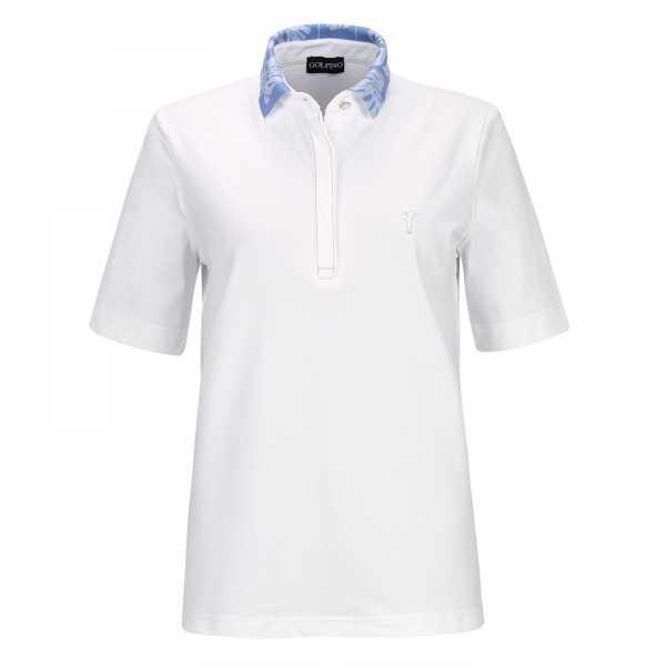 Golfino Palm Beach Short Sleeve Polo Damen weiß