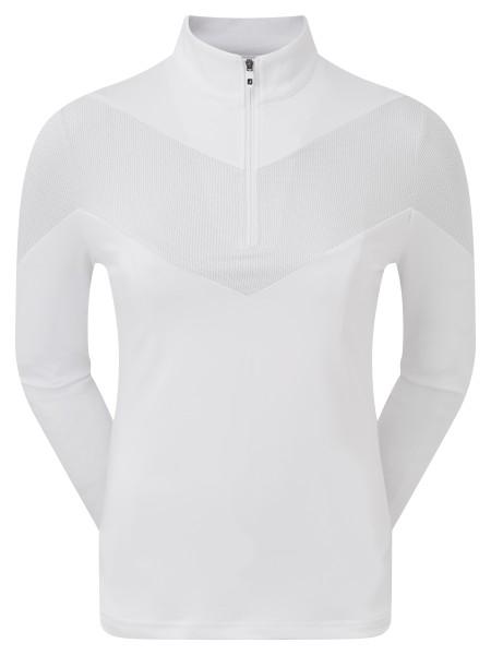 Footjoy Engineered Jersey Half Zip Pullover Damen weiß