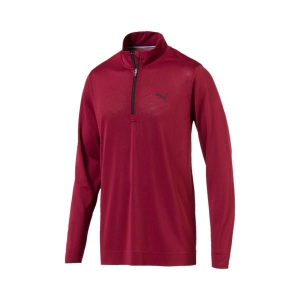 Puma Evoknit Essential 1/4-Zip Pullover Herren bordeauxrot