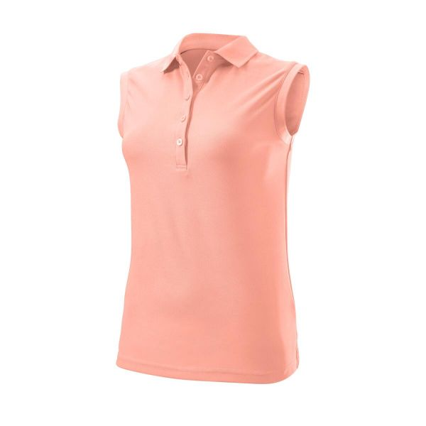 Wilson Staff Authentic Sleeveless Polo Damen pink
