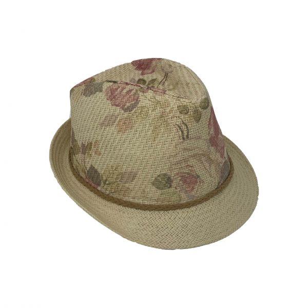 ER Panama Hut Damen natur/blumen