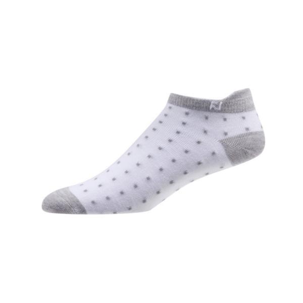 Footjoy ProDry Lightweight Roll Tab Fashion Socken Damen weiß/grau