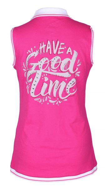 Girls Golf Good Time sleeveless Polo Damen pink