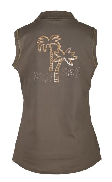 Girls Golf Golden Palm sleeveless Polo Damen grün
