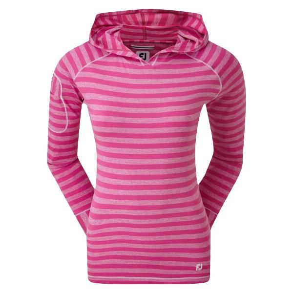 Footjoy Jersey Tonal Melange Stripe Pullover Damen rosa