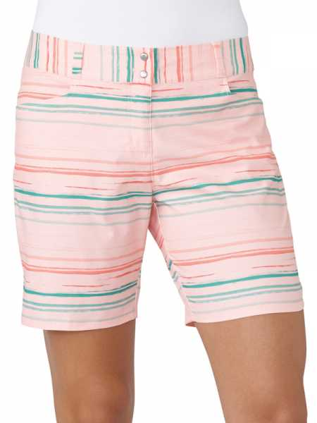 "adidas 7"" Printed Stripe Golf Short Damen lachs"