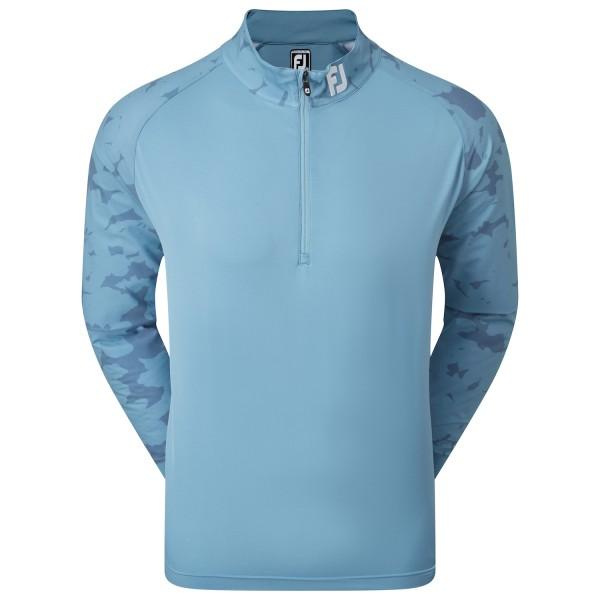 Footjoy Camo Floral 1/2-Zip Pullover Herren blau