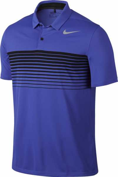 Nike Men's Mobility Speed Stripe Golf Polo blau/schwarz