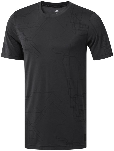 adidas Adicross Allover Graphic T-shirt Herren schwarz