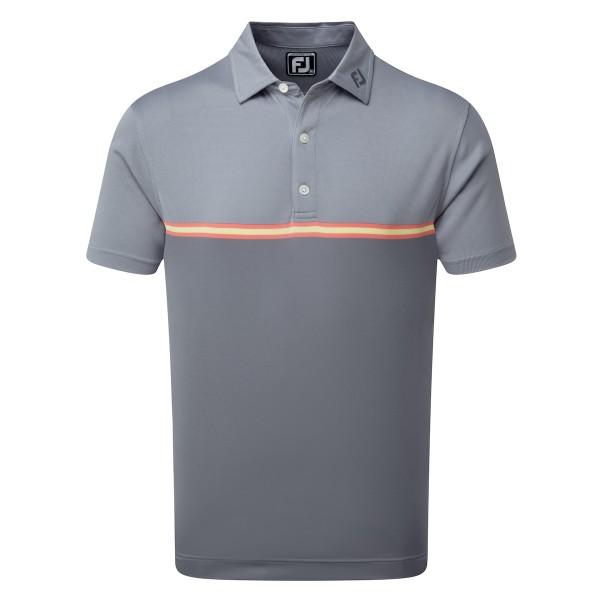 Footjoy Jacquard Top Colour Block Polo Herren grau