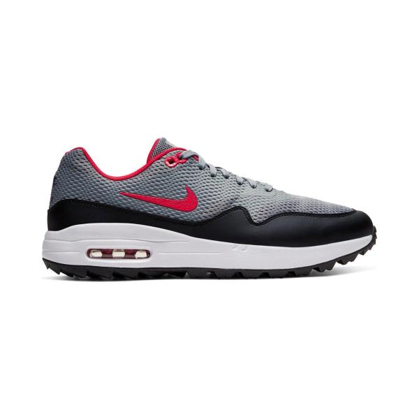 Nike Air Max 1G Textil Golfschuh Herren grau/rot