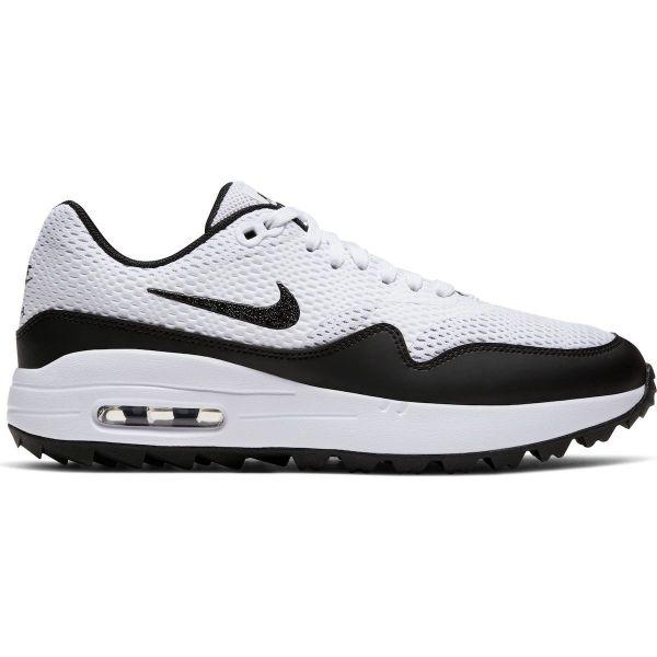 Nike Air Max 1G Textil Golfschuh Damen schwarz/weiß