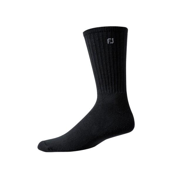Footjoy ProDry Lightweight Crew Socken lang Herren schwarz