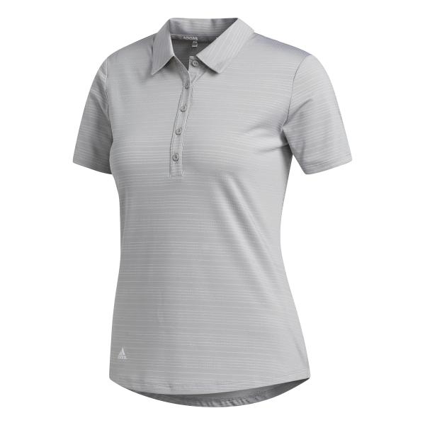 adidas Microdot Shorts Sleeve Polo Damen grau