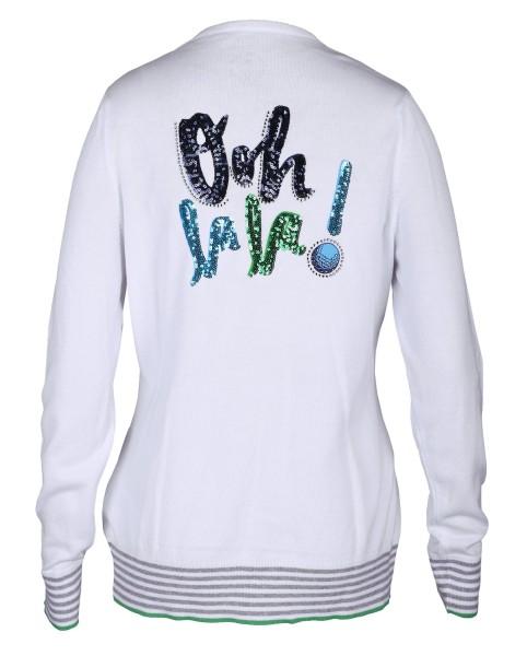 Girls Golf Oh La La Sweater Damen weiß