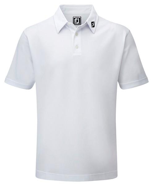 Footjoy Stretch Pique Solid Polo Junior weiß