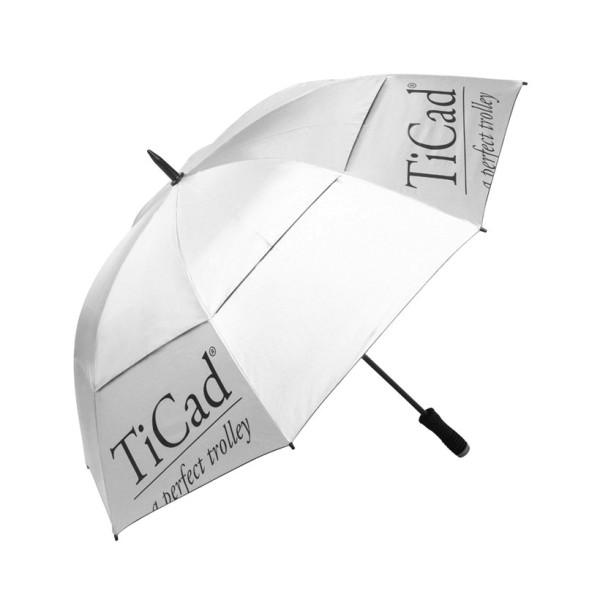TiCad WindBuster XXL Regenschirm silber