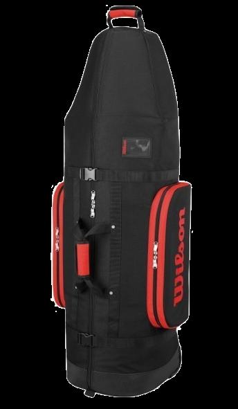 WILSON Travel Bag mit Rollen, schwarz-rot