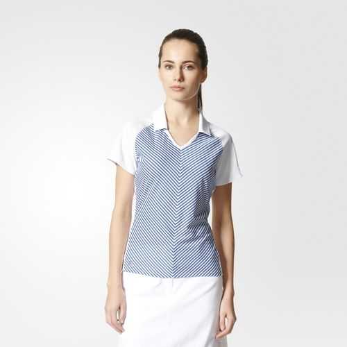 Adidas Climachill Polo Damen blau/weiß