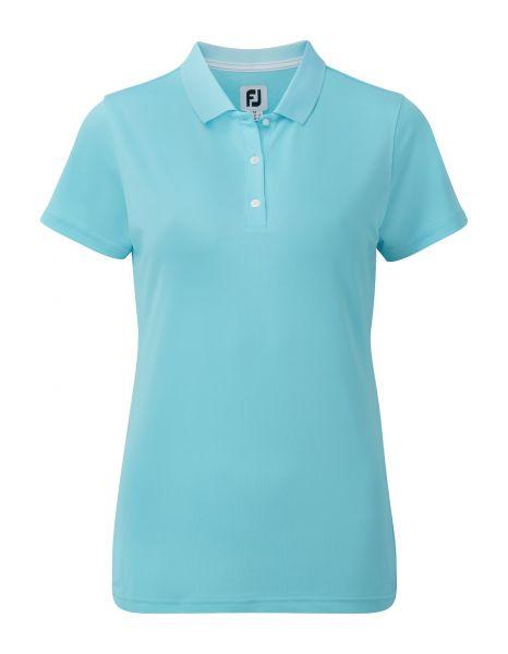 Footjoy Stretch Pique Solid Polo Damen babyblau