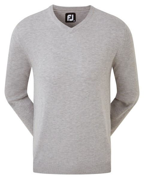 Footjoy Wool Blend V-Neck Pullover Herren hellgrau