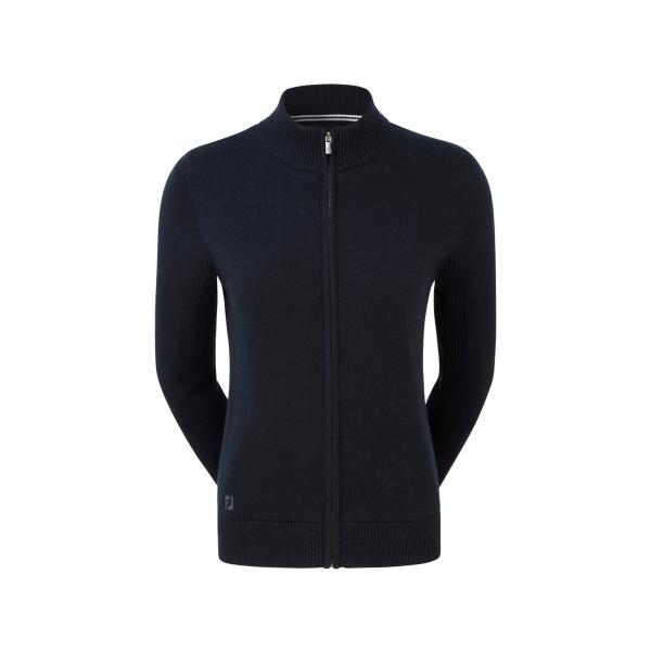 Footjoy Full-Zip Lined Wool Blend Pullover Damen navy