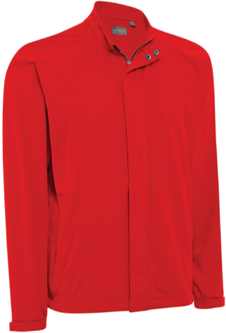 Ashworth Performance Waterproof Solid Rain Jacket rot